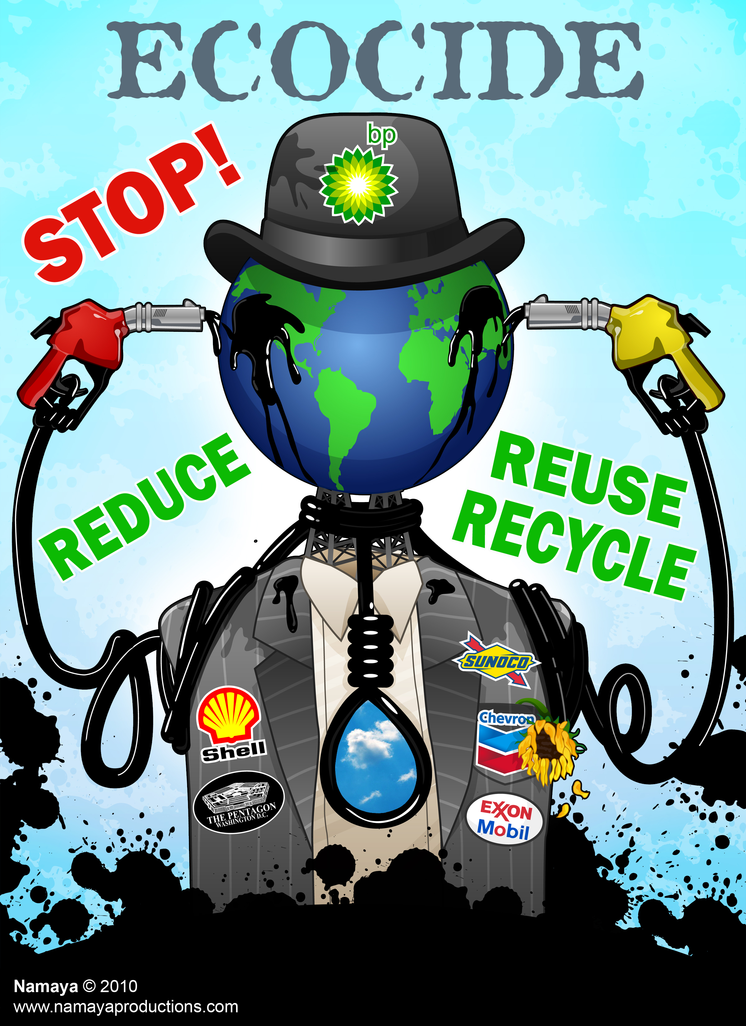 Ecocide_8x11 Stop Reduce and Reuse